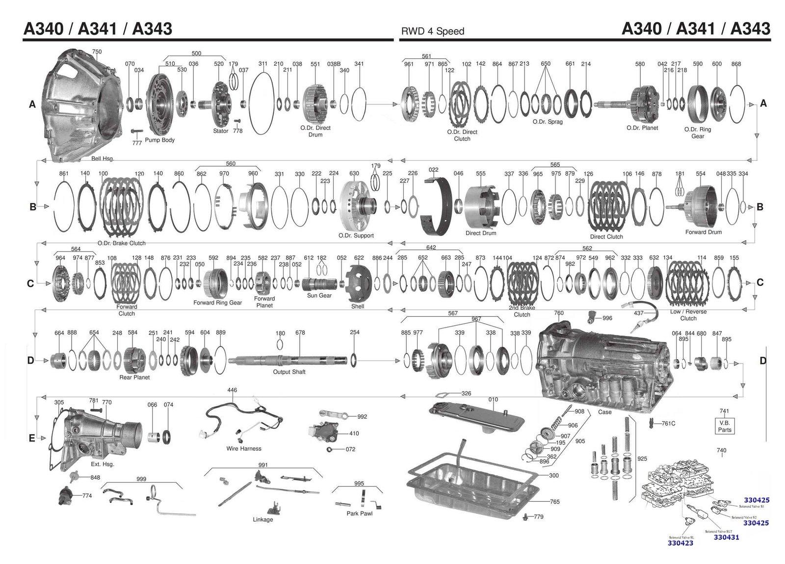 A340 Valve body